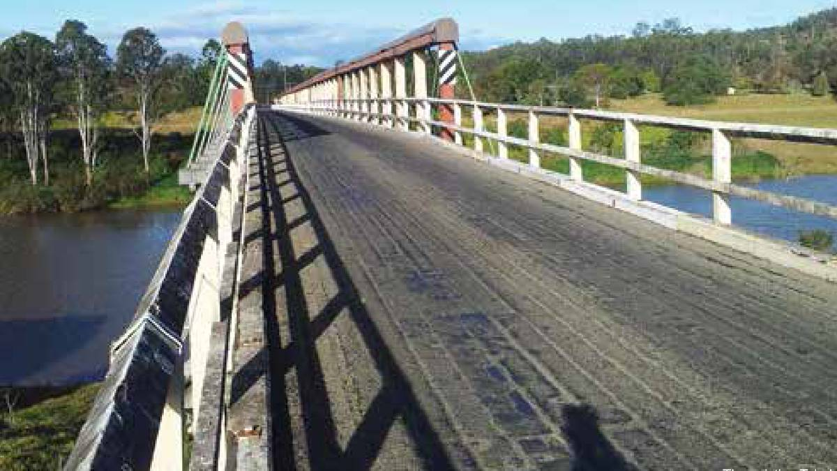 The existing Tabulam bridge. (Photo by Roads and Maritime Services.)